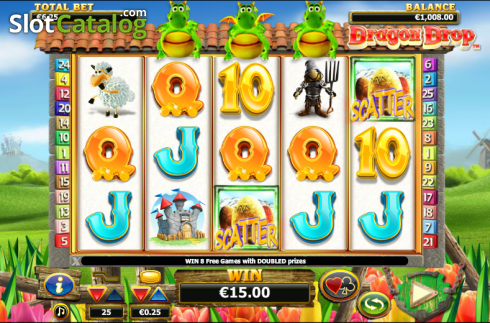 spargimento. Dragon Drop (Video Slot a partire dal NextGen)