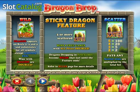 Paytable 1. Dragon Drop (Video Slot a partire dal NextGen)