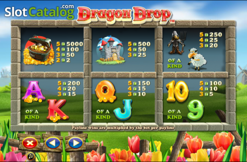 Paytable 2. Dragon Drop (Video Slot a partire dal NextGen)