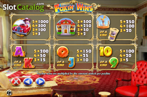 Paytable 4. Foxin Wins (Video Slot from NextGen)