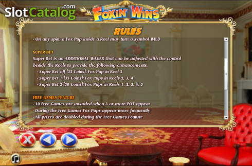 Paytable 6. Foxin Wins (Video Slot from NextGen)