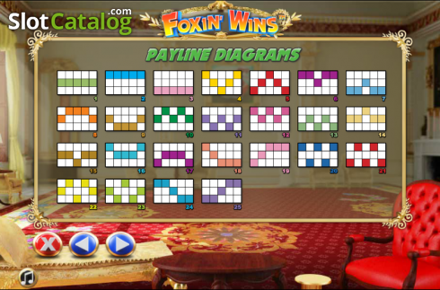 Paytable 9. Foxin Wins (Video Slot from NextGen)