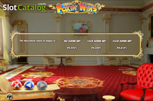 Paytable 10. Foxin Wins (Video Slot from NextGen)