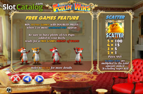 Paytable 2. Foxin Wins (Video Slot from NextGen)