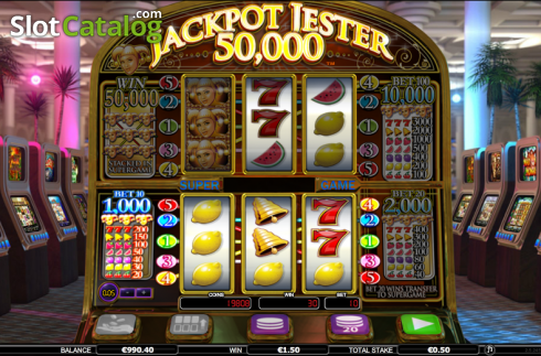 Screen 1. Jackpot Jester 50k (Video Slot from NextGen)