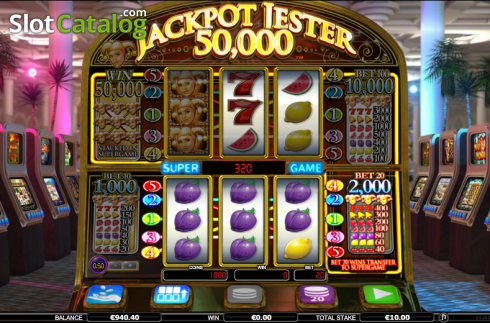 Screen 2. Jackpot Jester 50k (Video Slot from NextGen)
