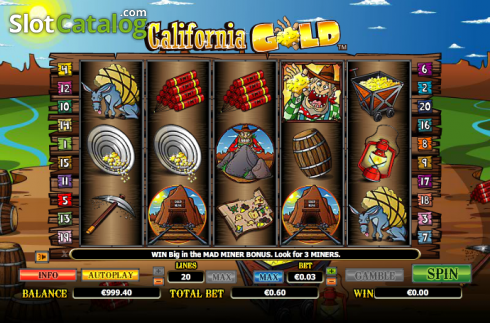 Reels. California Gold (Video Slot from NextGen)