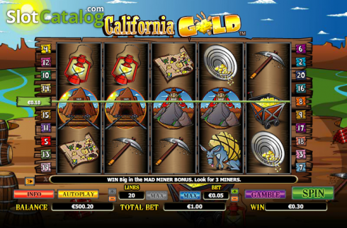 Win. California Gold (Video Slot from NextGen)
