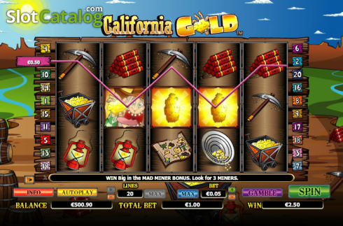Wild. California Gold (Video Slot from NextGen)