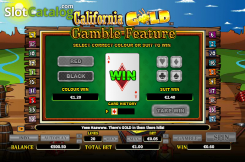 Double Up. California Gold (Video Slot from NextGen)