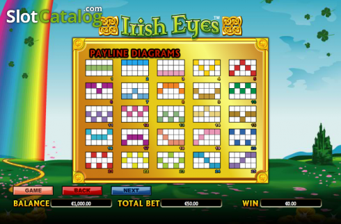 Paytable 7. Irish Eyes (Video Slot a partire dal NextGen)