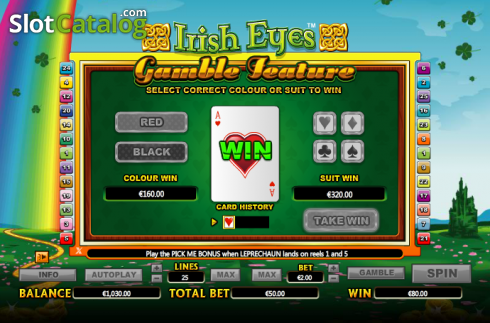 Raddoppiare. Irish Eyes (Video Slot a partire dal NextGen)
