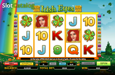 bobine. Irish Eyes (Video Slot a partire dal NextGen)