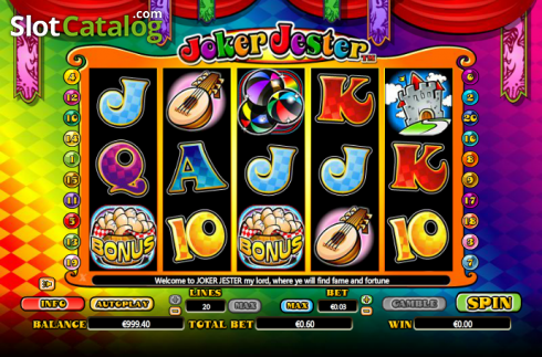 Reels. Joker Jester (Video Slot from NextGen)