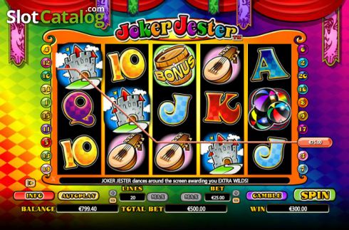 Win. Joker Jester (Video Slot from NextGen)