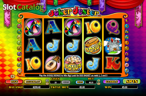 Scatter. Joker Jester (Video Slot from NextGen)