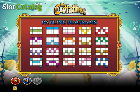 Paytable 6. The Cod Father (Video Slot from NextGen)