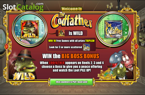 Game features. The Cod Father (Video Slot from NextGen)
