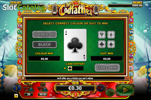 Double Up. The Cod Father (Video Slot from NextGen)