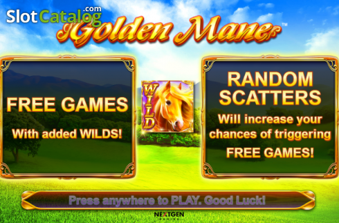 Screen 1. Golden Mane (Video Slots from NextGen)