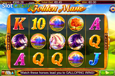 Screen 2. Golden Mane (Video Slots from NextGen)