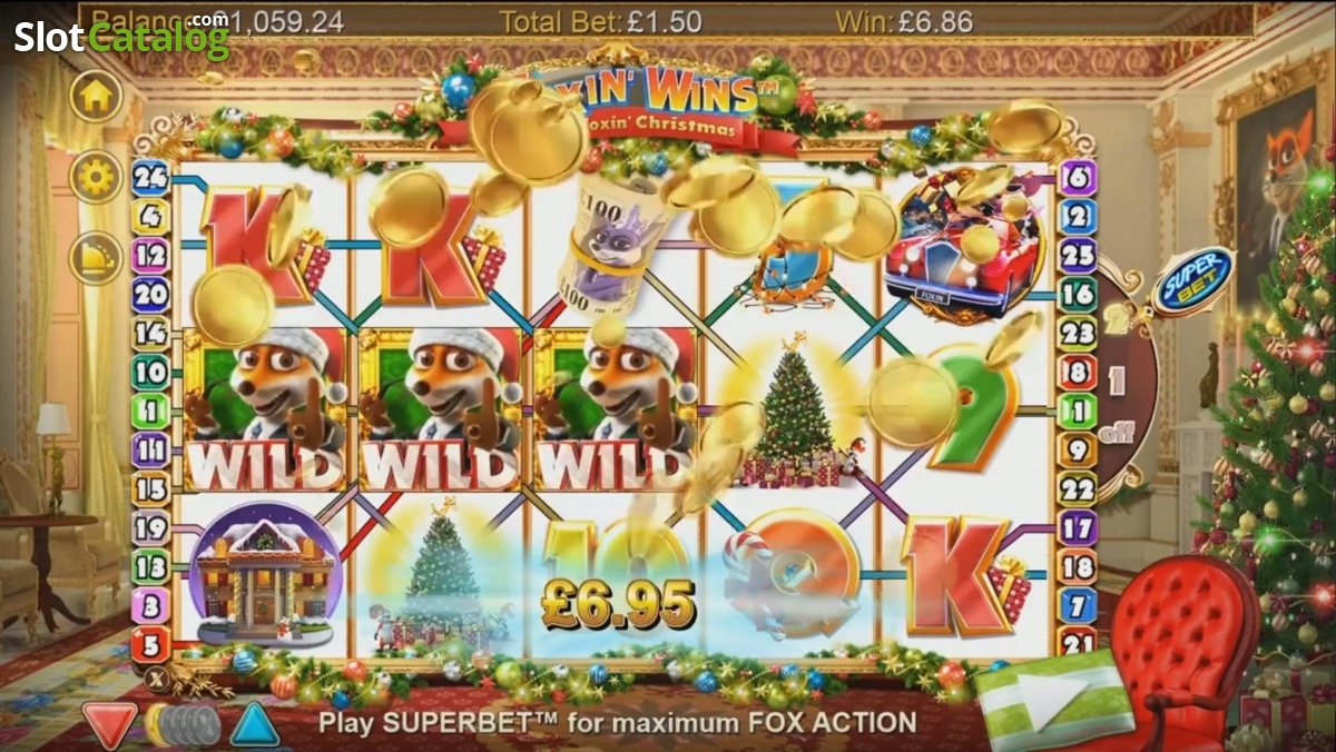foxin wins a very foxin christmas casino
