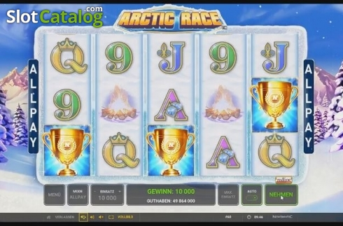 Free Spins Triggered. Arctic Race (Video Slot from Novomatic)