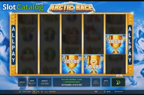 Stacked Symbols 1. Arctic Race (Video Slot from Novomatic)