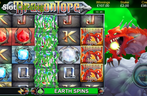 Earth Spins. Dragon Lore (Video Slot from Bulletproof Games)