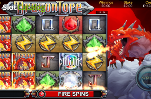 Fire Spins. Dragon Lore (Video Slot from Bulletproof Games)