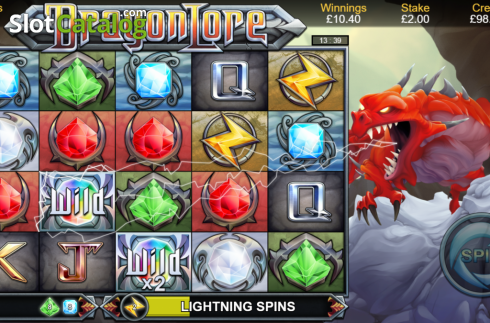 Lightning Spins. Dragon Lore (Video Slot from Bulletproof Games)