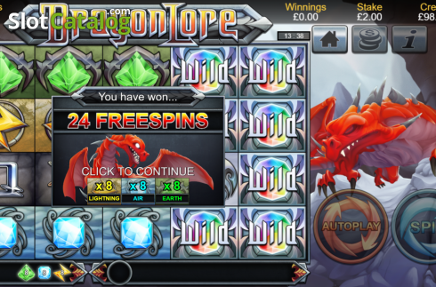 Free Spins. Dragon Lore (Video Slot from Bulletproof Games)