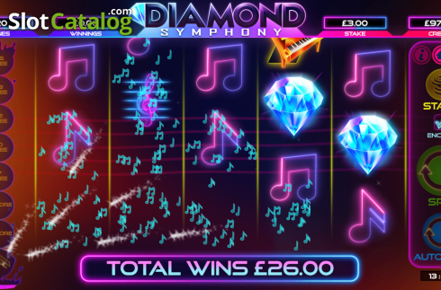 Win. Diamond Symphony (Video Slots from Bulletproof Games)