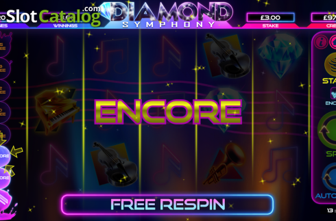 Encore. Diamond Symphony (Video Slots from Bulletproof Games)