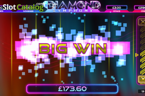 Big Win. Diamond Symphony (Video Slots from Bulletproof Games)