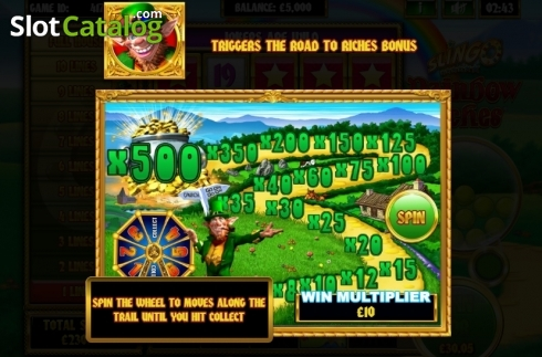 Paytable 2. Slingo Rainbow Riches (Others Types from Slingo Originals)