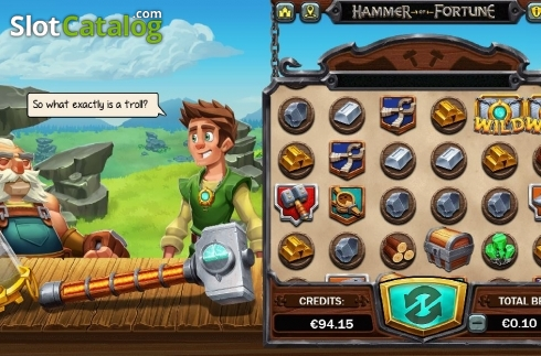 Reel Screen 3. Hammer of Fortune (Video Slot from Green Jade Games)