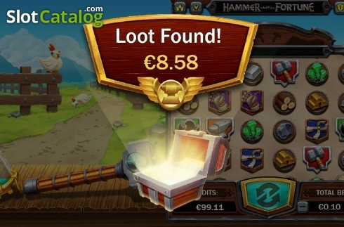 Feature Loot. Hammer of Fortune (Video Slot from Green Jade Games)