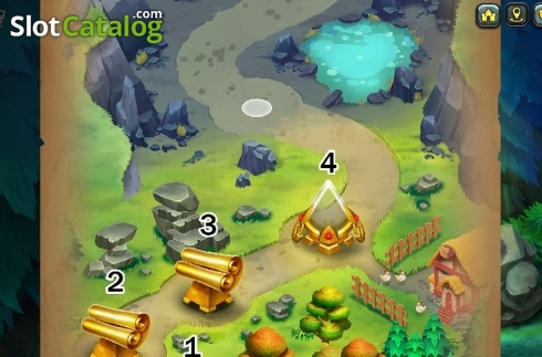 Map Feature 3. Hammer of Fortune (Video Slot from Green Jade Games)