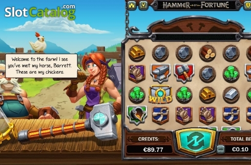 Reel Screen 4. Hammer of Fortune (Video Slot from Green Jade Games)
