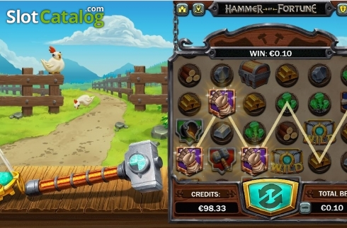 Win Screen 4. Hammer of Fortune (Video Slot from Green Jade Games)
