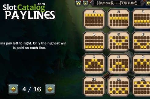 Lines 1. Hammer of Fortune (Video Slot from Green Jade Games)