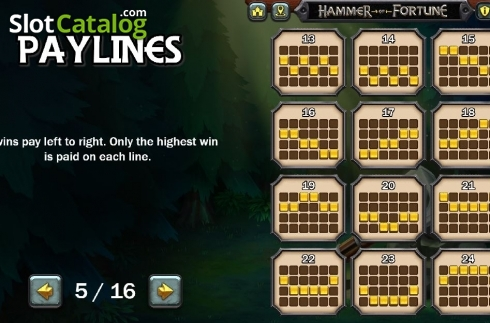 Lines 2. Hammer of Fortune (Video Slot from Green Jade Games)