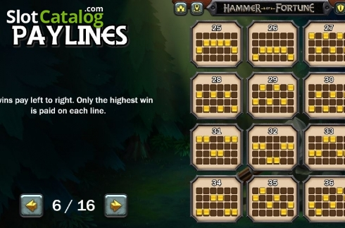 Lines 3. Hammer of Fortune (Video Slot from Green Jade Games)