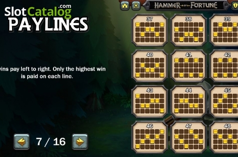 Lines 4. Hammer of Fortune (Video Slot from Green Jade Games)