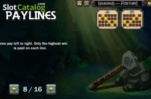 Lines 5. Hammer of Fortune (Video Slot from Green Jade Games)