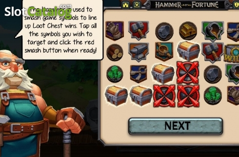 Feature 1. Hammer of Fortune (Video Slot from Green Jade Games)