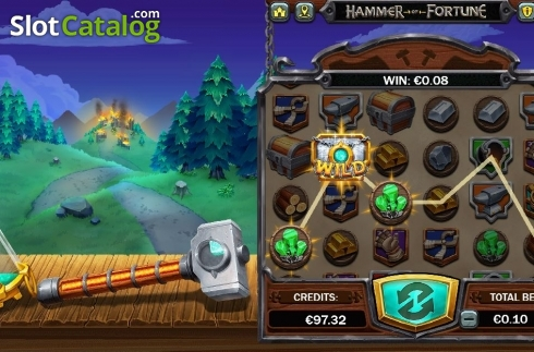 Win Screen 2. Hammer of Fortune (Video Slot from Green Jade Games)