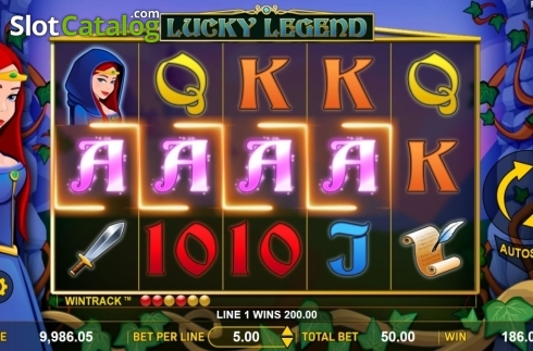 Win Screen 2. Lucky Legend (Video Slot from Aspect Gaming)