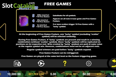 Features. Lucky Legend (Video Slot from Aspect Gaming)